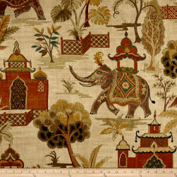 Covington Kumar Linen Terracotta Fabric