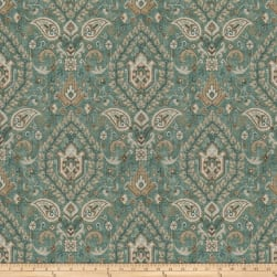 Fabricut Borodinsky Sea Green Linen Fabric