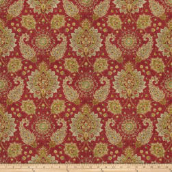 Fabricut Broa Linen Blend Exotic Red Fabric