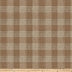 Fabricut Burlap Plaid Jacquard Copper Fabric