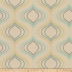 Fabricut Carrier Embroidered Aquamarine Fabric