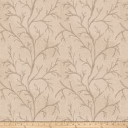 Fabricut Catla Branch Embroidered Parchment Fabric
