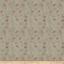 Fabricut Coquet Embroidered Dupioni Malachite Fabric
