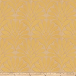 Fabricut Crespo Leaves Jacquard Citrus Fabric
