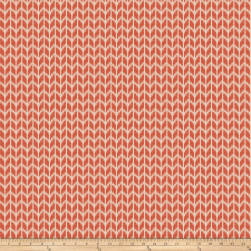 Fabricut Cribbage Homespun Coral Fabric