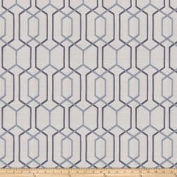Fabricut Crosswise Embroidered Steel Blue Fabric