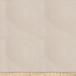 Fabricut Crowe Damask Satin Jacquard Ecru Fabric