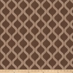 Fabricut Daimler Embroidered Chenille Mocha Fabric