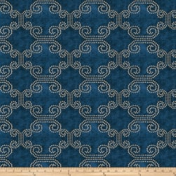 Fabricut Deco Lights Chenille Navy Fabric