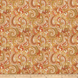 Fabricut Defense Paisley Linen Blend Garden Fabric