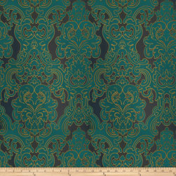 Fabricut Del Toro Grand Satin Jacquard Peacock Fabric