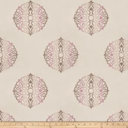 Fabricut Doozy Medallion Embroidered Taffeta Wisteria Fabric
