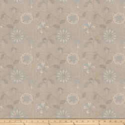Fabricut Dory Floral Embroidered Bluebell Fabric