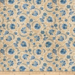 Fabricut Drawing Linen Blend Bluebell Fabric