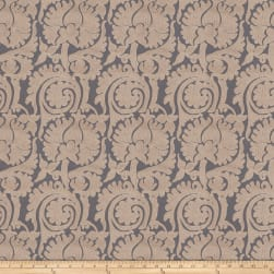 Fabricut Duvall Damask Jacquard Horizon Sheen Fabric
