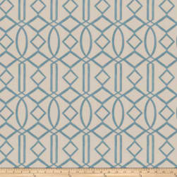 Isabelle De Borchgrave Egyptian Lattice Linen Blend Turquoise