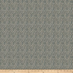 Fabricut Elimination Round Flocked TealBasketweave Fabric