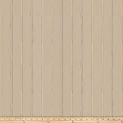 Fabricut Epicurean Stripe Faux Silk Stucco Fabric