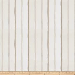 Fabricut Epicurean Stripe Faux Silk Ivory Fabric