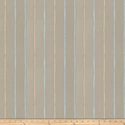 Fabricut Epicurean Stripe Faux Silk Aqua Fabric