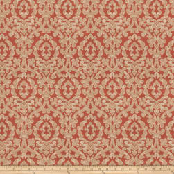 Fabricut Eureka Damask Faux Silk Sienna Sheen Fabric
