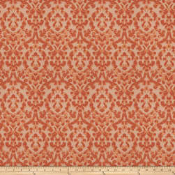 Fabricut Eureka Damask Faux Silk Ginger Lux Fabric