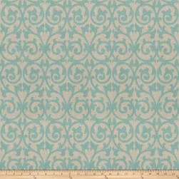 Fabricut Ezekiel Scroll Aquamarine Fabric