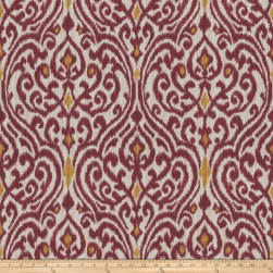 Fabricut Fava Damask Ruby Fabric