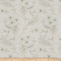 Fabricut Flowering Plant Aqua Fabric