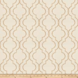 Fabricut Four Queens Embroidered Tan Fabric