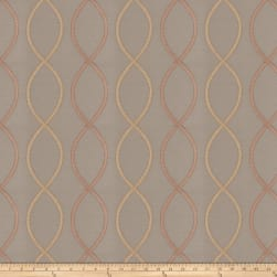 Fabricut Genial Embroidered Satin Blush Fabric
