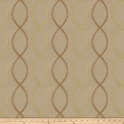 Fabricut Genial Embroidered Satin Linden Fabric