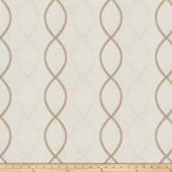 Fabricut Genial Embroidered Satin Pearl Fabric