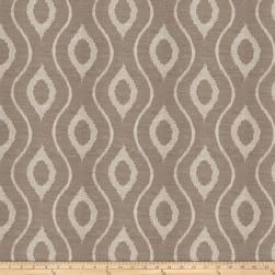 Fabricut Ghoul Embroidered Basketweave Grey Fabric