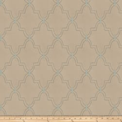 Fabricut Gila Embroidered Shantung Aqua Haze Fabric