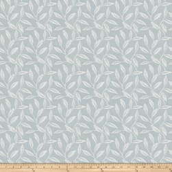 Fabricut Guts Leaves Jacquard Powder Blue Fabric