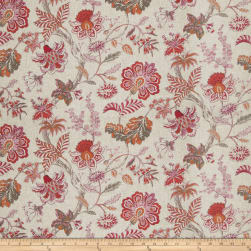 Fabricut Hadfield Floral Papaya Fabric