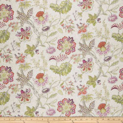 Fabricut Hadfield Floral Coral Fabric