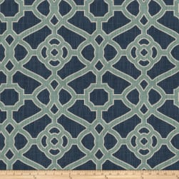 Fabricut Hakata Lattice Indigo Fabric