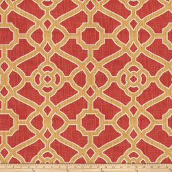 Fabricut Hakata Lattice Rouge Fabric