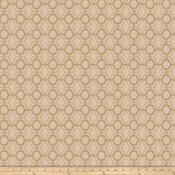 Fabricut Heinz Lattice Embroidered Canvas Bamboo Ja Fabric