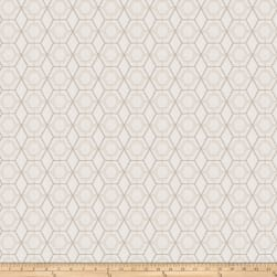 Fabricut Heinz Lattice Embroidered Canvas Oyster Fabric