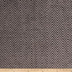 Fabricut High Low Zig Velvet Charcoal Fabric