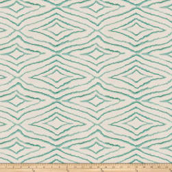 Fabricut Izara Embroidered Basketweave Breeze Fabric