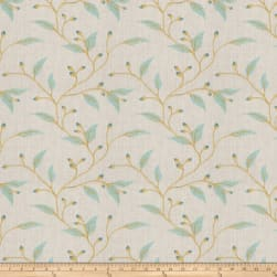 Fabricut Juma Embroidered Teal Fabric
