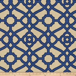 Fabricut Mast Fret Canvas Cobalt Fabric