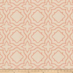 Fabricut Moondust Embroidered Coral Fabric