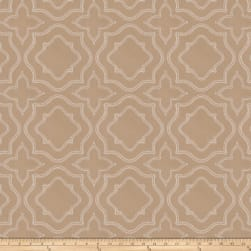 Fabricut Moondust Embroidered Almond Fabric
