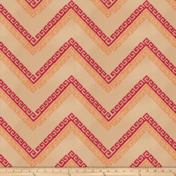 Fabricut Nandi Embroidered Ruby Fabric