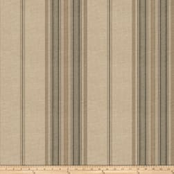 Fabricut Nigel Stripe Basketweave Slate Fabric